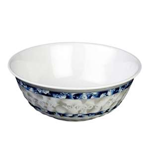 "Thunder Group 48 oz, 8"" Swirl Bowl, Blue Dragon, 1 Dozen, THUND-5308DL"