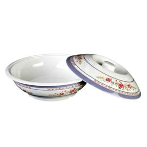 "Thunder Group 75 oz, 10"" Serving Bowl With Lid, Rose, 1 Each, THUND-8010AR"