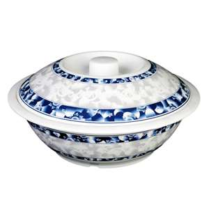 "Thunder Group 80 oz, 11"" Serving Bowl With Lid, Blue Dragon, 1 Each, THUND-8011DL"