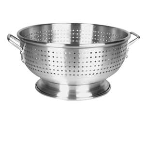 Thunder Group 12 Qt Aluminum Colander With Handle, 4 Each, THUND-ALHDCO002