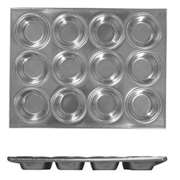 Thunder Group 12 Cup Muffin Pan, 3.5 oz Each Cup, 12 Each, THUND-ALKMP012