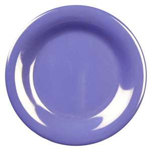 "Thunder Group 11 3 / 4"" Wide Rim Plate, Purple, 1 Dozen, THUND-CR012BU"