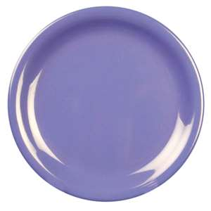 "Thunder Group 6 1 / 2"" Narrow Rim Plate, Purple, 1 Dozen, THUND-CR106BU"
