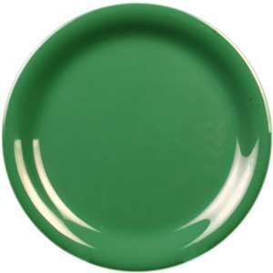 "Thunder Group 9"" Narrow Rim Plate, Green, 1 Dozen, THUND-CR109GR"