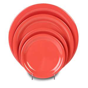 "Thunder Group 10 1 / 2"" Narrow Rim Plate, Orange, 1 Dozen, THUND-CR110RD"