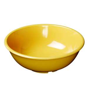 "Thunder Group 32 oz, 7 1 / 2"" Salad Bowl, Yellow, 1 Dozen, THUND-CR5807YW"