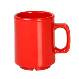 Thunder Group 8 oz Mug, Pure Red, 1 Dozen, THUND-CR9010PR