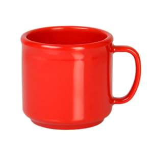 Thunder Group 10 oz Mug, Pure Red, 1 Dozen, THUND-CR9035PR