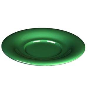 "Thunder Group 5 1 / 2"" Saucer For Cr313 / Cr5044 / Ml901 / Ml9011, Green, 1 Dozen, THUND-CR9108GR"