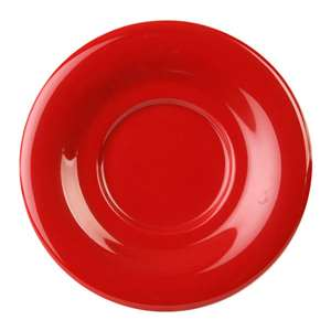 "Thunder Group 5 1 / 2"" Saucer For Cr313 / Cr5044 / Ml901 / Ml9011, Pure Red, 1 Dozen, THUND-CR9108PR"