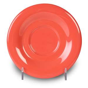 "Thunder Group 5 1 / 2"" Saucer For Cr303 / Cr9018, Orange, 1 Dozen, THUND-CR9303RD"