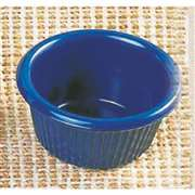 "Thunder Group 1 1 / 2 oz, 2 1 / 2"" Fluted Ramekin, Cobalt Blue, 4 Dozen, THUND-ML507CB"
