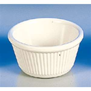 "Thunder Group 3 oz, 3 1 / 8"" Fluted Ramekin, Bone, 4 Dozen, THUND-ML531B"