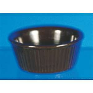 "Thunder Group 3 1 / 2 oz, 3 3 / 8"" Fluted Ramekin, Chocolate, 4 Dozen, THUND-ML533C"
