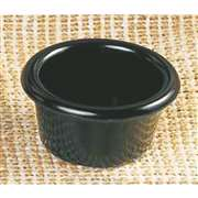 "Thunder Group 1 1 / 2 oz, 2 1 / 2"" Smooth Ramekin, Black, 6 Dozen, THUND-ML534BL"