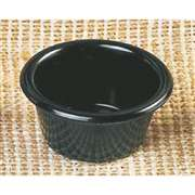 "Thunder Group 2 oz, 2 1 / 2"" Smooth Ramekin, Black, 4 Dozen, THUND-ML535BL"