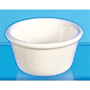"Thunder Group 4 oz, 3 3 / 8"" Smooth Ramekin, Bone, 4 Dozen, THUND-ML538B"