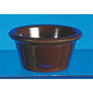 "Thunder Group 4 oz, 3 3 / 8"" Smooth Ramekin, Chocolate, 4 Dozen, THUND-ML538C"