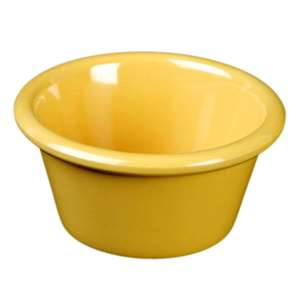 "Thunder Group 4 oz, 3 3 / 8"" Smooth Ramekin, Yellow, 4 Dozen, THUND-ML538YW"