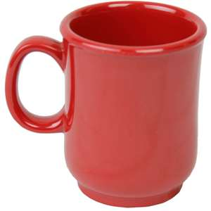 "Thunder Group 8oz, 3"" Bulbous Mug, Pure Red, 1 Dozen, THUND-N-901PR"
