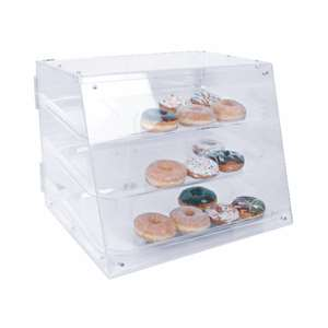 "Thunder Group 21"" X 17-1 / 4"" X 16 1 / 2"" Pastry Display With 3 Tray, 1 Each, THUND-PLDC001"