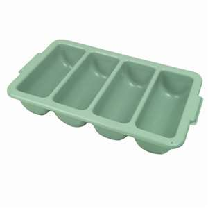 Thunder Group Four Compartment Cutlery Box - Grey, 1 Each, THUND-PLFCCB001