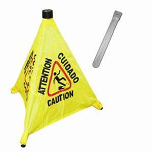 "Thunder Group 19 1 / 2"" Pop-Up Safety Cone With Storage Tube, 1 Each, THUND-PLFCS330"