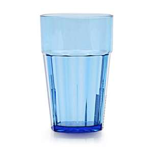 Thunder Group 14 oz, Diamond Tumbler, Polycarbonate, Blue, 1 Dozen, THUND-PLPCTB114BL