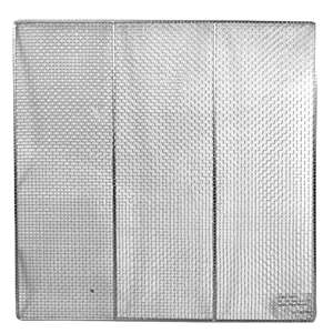 "Thunder Group 23"" Square Donut Screens, Stainless Steel, 6 Each, THUND-SLRACK0023"