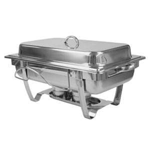 Thunder Group 8 Quart Stainless Steel Chafer, Stackable, 1 Set, THUND-SLRCF0833BT