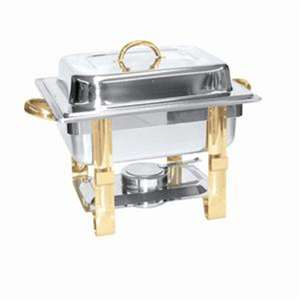 Thunder Group 4 Qt Gold Accented Chafer, 1 Set, THUND-SLRCF0834GH