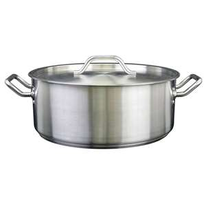 Thunder Group 15 Qt 18 / 8 Stainless Steel Brazier, 1 Each, THUND-SLSBP015