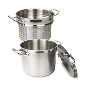Thunder Group 20 Qt 18 / 8 Stainless Steel Pasta Cooker, 1 Each, THUND-SLSPC020