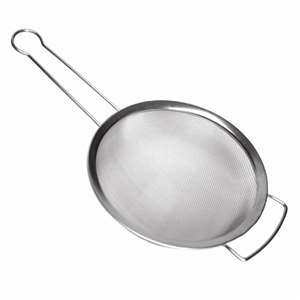 "Thunder Group 10"" Stainless Steel Strainer With Support Handle, 12 Each, THUND-SLSTN010"