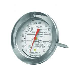 Thunder Group Dial Meat Thermo  120 To 200 F, 12 Each, THUND-SLTH200