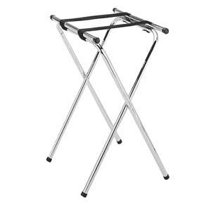 Thunder Group Double Bar Chrome Plated Tray Stand, 1 Each, THUND-SLTS002
