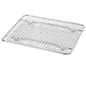 "Thunder Group 5""X10"" Third Size Wire Pan Grates, 50 Each, THUND-SLWG001"