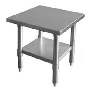 Thunder Group SLWT42412F 430 Stainless Steel Worktable