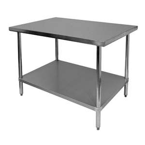 Thunder Group SLWT42472F 430 Stainless Steel Worktable