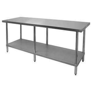 Thunder Group SLWT42484F 430 Stainless Steel Worktable