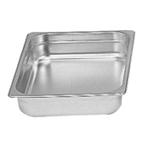 "Thunder Group Half Size 2 1 / 2"" Deep 22 Gauge Anti Jam Pans, 12 Each, THUND-STPA6122"