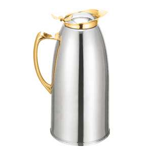 Thunder Group 50 oz  Stainless Steel Lined Carafe, Gold, 1 Each, THUND-TWSM150G