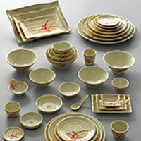 Gold Orchid & Melamine Asian Supply | Kitchen of Glam