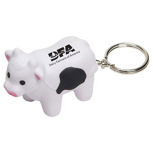 Squishy Cow Key Chain