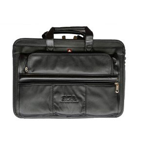 Leather Double Compartment Attaché Case