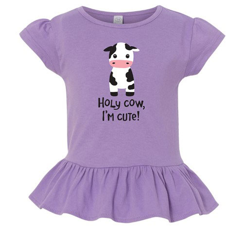 Holy Cow I'm Cute Ruffle T-shirt