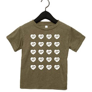 Toddler's Hearts and Cows T-shirt