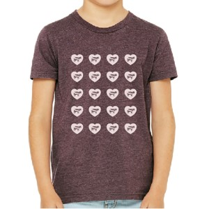 Unisex Youth Hearts and Cows T-shirt