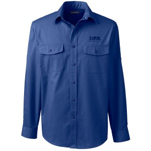 Lands' End Men's Button-down Long-Sleeve Work Shirt