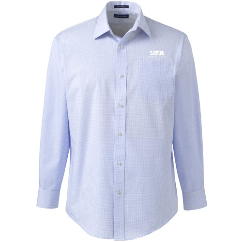 Lands' End Men's Straight Collar Dress Shirt